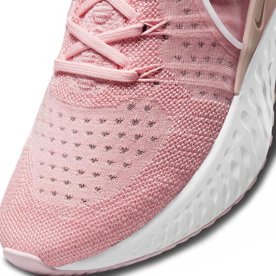 Nike React Infinity Run Flyknit 2 Womens Running Shoes, Pink/White, rebel_hi-res