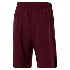 Reebok Mens Workout Ready Training Shorts Red S, Red, rebel_hi-res