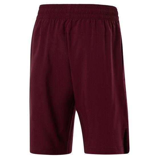 Reebok Mens Workout Ready Training Shorts, Red, rebel_hi-res