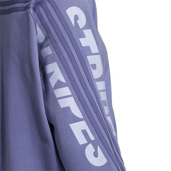 adidas Womens SI Word Crew Sweatshirt, Purple, rebel_hi-res