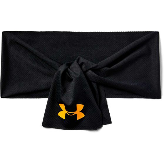 Under Armour Womens Project Rock Tie Headband, , rebel_hi-res