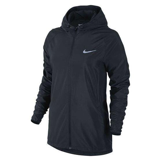 Nike Womens Essential Jacket Black   Silver XS Adult  25d804147