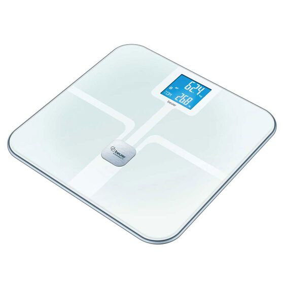 Beurer BF800 Bluetooth Glass Body Fat Scales Silver, , rebel_hi-res