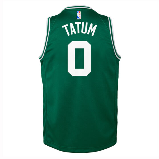 Nike Boston Celtics Jayson Tatum 2019/20 Kids Icon Edition Swingman Jersey, Green, rebel_hi-res