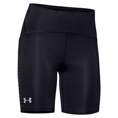 Under Armour Womens Fly Fast Half Tights, Black, rebel_hi-res