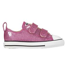 Converse Chuck Taylor All Star Glitter Low Top Toddlers Shoes Violet US 4, Violet, rebel_hi-res
