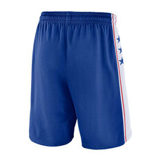 Nike Philadelphia 76ers Icon Edition Swingman Mens Basketball Shorts Blue S, Blue, rebel_hi-res