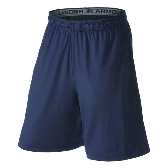 Under Armour Mens Raid 8in Training Shorts, Navy, rebel_hi-res
