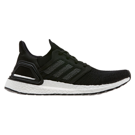 adidas Ultraboost 20 Womens Running Shoes, Black / Navy, rebel_hi-res