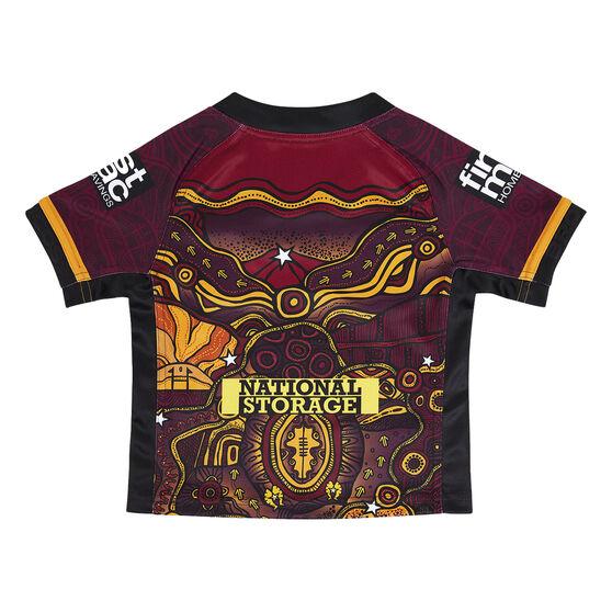 Brisbane Broncos 2021 Infant Indigenous Jersey, Maroon, rebel_hi-res