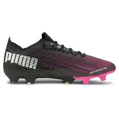 Puma Ultra 1.1 Football Boots Black/Pink US Mens 7 / Womens 8.5, Black/Pink, rebel_hi-res