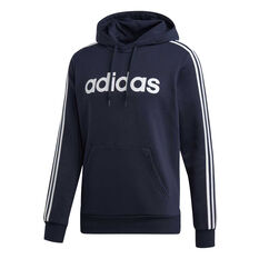 adidas Mens 3-Stripes Fleece Hoodie, Blue, rebel_hi-res