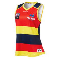 Adelaide Crows AFLW 2019 Womens Home Guernsey Blue / Orange XS, Blue / Orange, rebel_hi-res