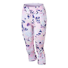 Ell & Voo Girls Alicia Capri Tights Pink 14, Pink, rebel_hi-res