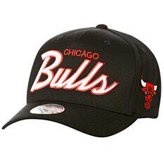 Chicago Bulls Team Script Curved Snapback, , rebel_hi-res