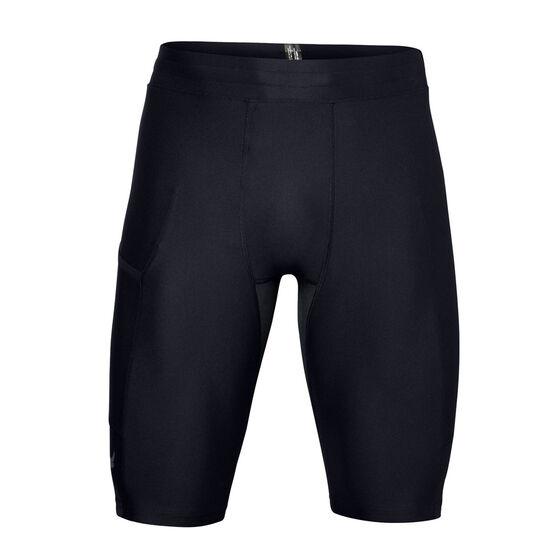 Under Armour Mens Project Rock HeatGear Shorts Black M, Black, rebel_hi-res