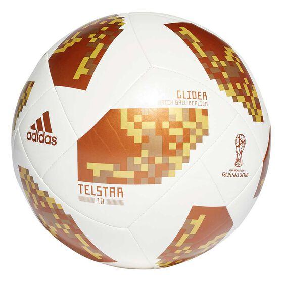adidas Telstar 2018 Top Glider Soccer Ball, White / Gold, rebel_hi-res