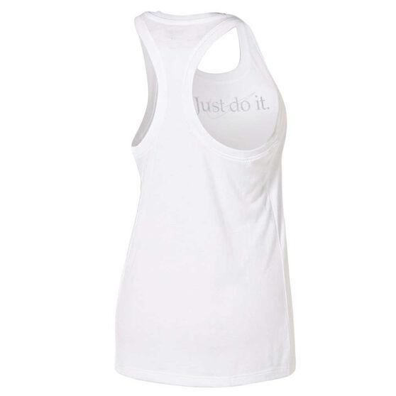 Nike Womens Just Do It Tank, White, rebel_hi-res
