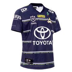 North Queensland Cowboys 2021 Mens Defence Jersey Navy XS, Navy, rebel_hi-res