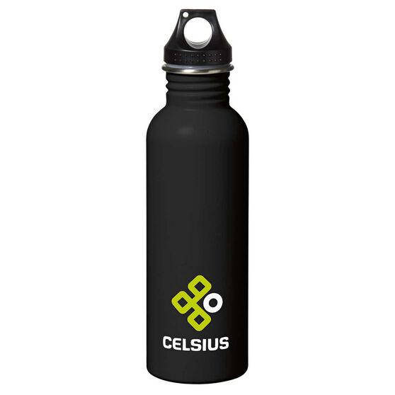 Celsius Stainless Steel 750ml Water Bottle Black 750ml, Black, rebel_hi-res
