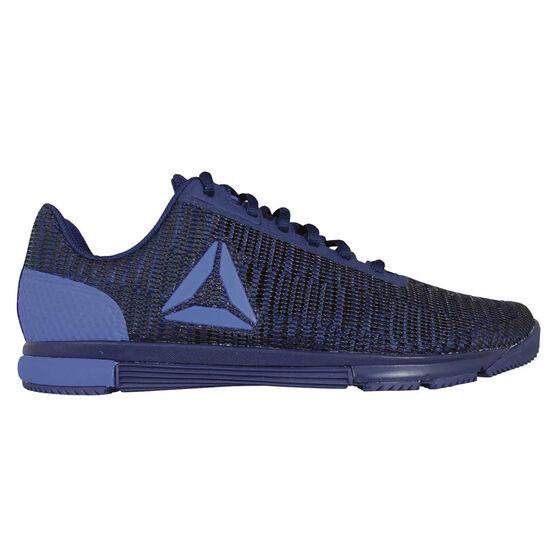 Reebok Speed Trainer Flexweave Mens Training Shoes, Navy / Black, rebel_hi-res