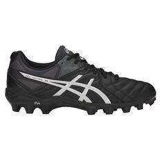 Asics GEL Lethal 18 Mens Football Boots Black / Silver US 7, Black / Silver, rebel_hi-res