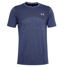 Under Armour Mens Seamless Training Tee Blue XS, Blue, rebel_hi-res