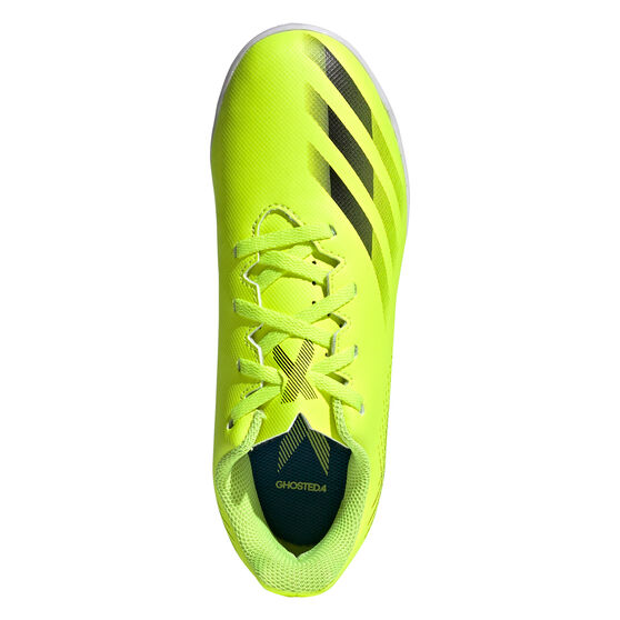 adidas X Ghosted .4 Kids Indoor Soccer Shoes, Yellow, rebel_hi-res