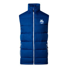 North Melbourne Kangaroos 2020 Mens Down Vest Blue S, Blue, rebel_hi-res
