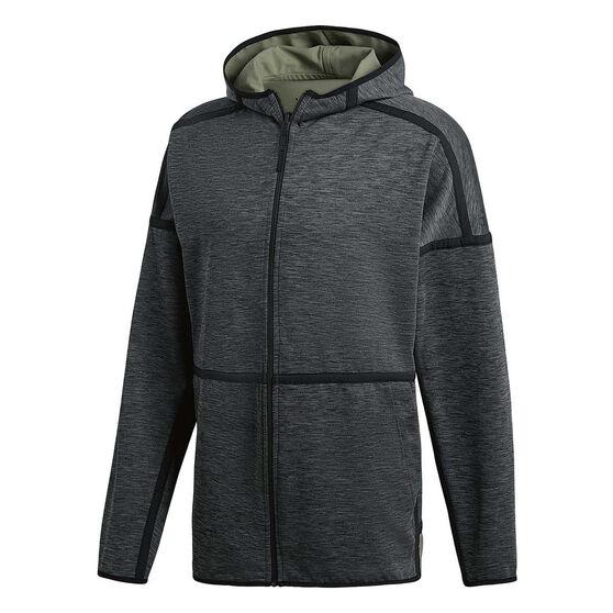 adidas Mens Z.N.E Reversible Hoodie Grey S, Grey, rebel_hi-res