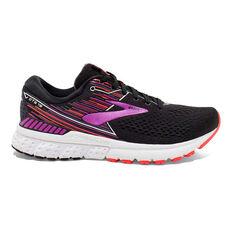 Brooks Adrenaline GTS 19 Womens Running Shoes Black / Purple US 6, Black / Purple, rebel_hi-res