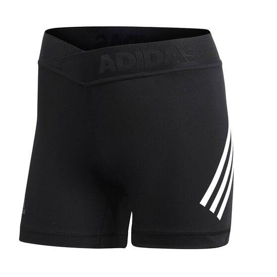 adidas Womens Alphaskin Sport Short Tights, Black, rebel_hi-res