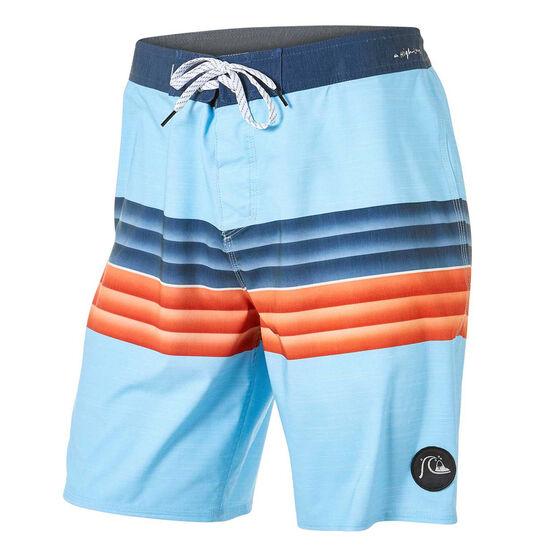 Quiksilver Mens Highline Six Channel 19in Board Shorts, Blue, rebel_hi-res