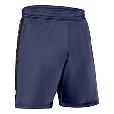 Under Armour Mens MK-1 7in Graphic Shorts Blue S, Blue, rebel_hi-res