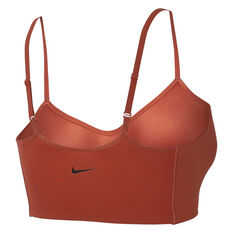 Nike Womens Indy Light Support Sports Bra Peach XS, Peach, rebel_hi-res