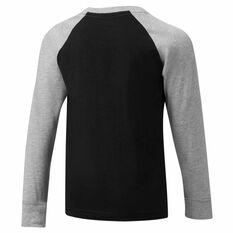 Nike Air Boys LS Raglan Tee Black / Grey 4, Black / Grey, rebel_hi-res