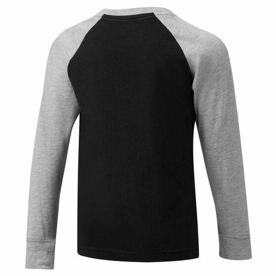 Nike Air Boys LS Raglan Tee, Black / Grey, rebel_hi-res