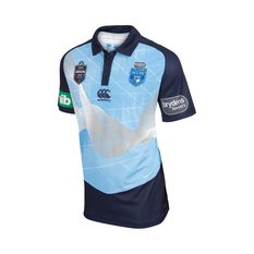 NSW Blues State of Origin 2018 Mens Media Polo Shirt, , rebel_hi-res