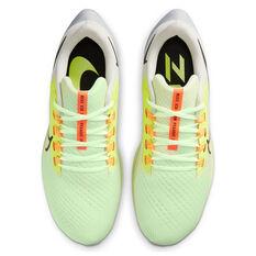 Nike Air Zoom Pegasus 38 Mens Running Shoes, White/Yellow, rebel_hi-res