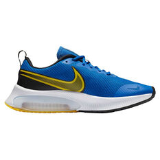 Nike Zoom Arcadia Kids Running Shoes Blue/Yellow US 4, Blue/Yellow, rebel_hi-res