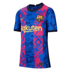FC Barcelona 2021/22 Kids Replica 3rd Jersey Blue/Red XS, , rebel_hi-res