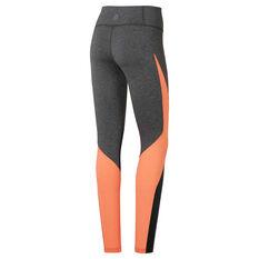 7b9a187031f8ad ... Reebok Womens Lux Colourblock Tights Grey XS, Grey, rebel_hi-res