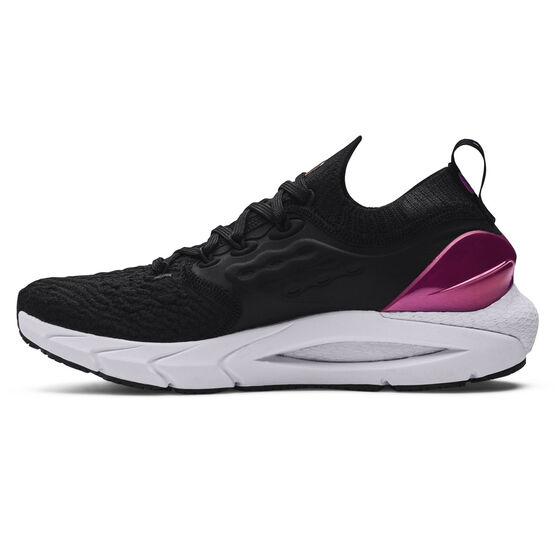Under Armour HOVR Phantom 2 Womens Running Shoes, Black/White, rebel_hi-res