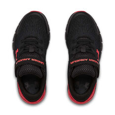 Under Armour Charged Rogue 2 Kids Running Shoes Black/Red US 11, Black/Red, rebel_hi-res