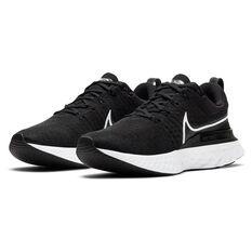 Nike React Infinity Run Flyknit 2 Womens Running Shoes, Black/White, rebel_hi-res