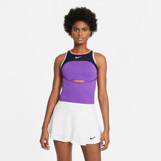 NikeCourt Womens Slam Tennis Tank Purple XS, Purple, rebel_hi-res
