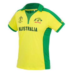 Cricket Australia 2019 Mens Replica World Cup Shirt Yellow / Green S, Yellow / Green, rebel_hi-res