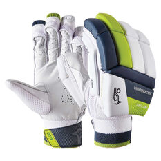 Kookaburra Kahuna Pro 1200 Cricket Batting Gloves White / Green Right Hand, White / Green, rebel_hi-res