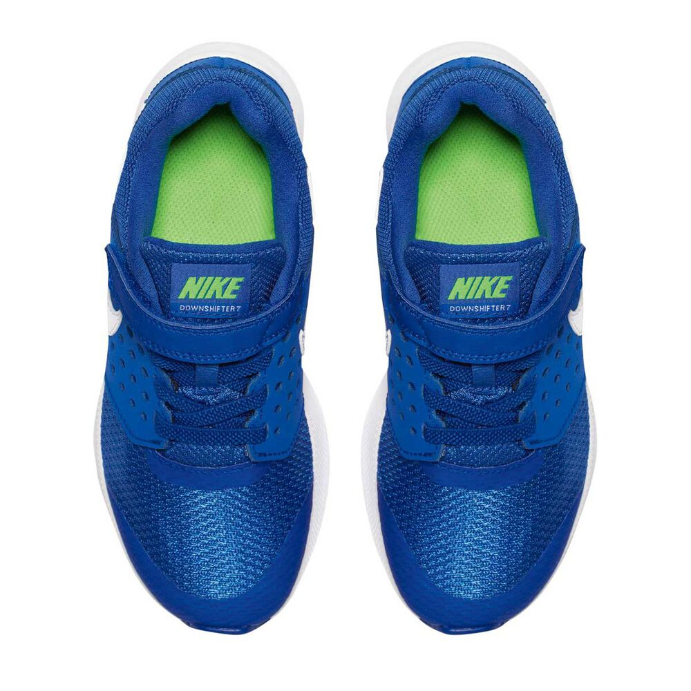 9a6d02cfdd695 Nike Downshifter 7 Junior Boys Running Shoes Blue   White US 3 ...