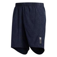 adidas Mens Saturday Running Shorts Navy XS, Navy, rebel_hi-res